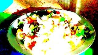 Идеальный салат с курицей, с шампиньонами и овощами - рецепт.