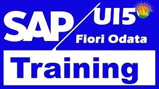 SAP UI5 Fiori Odata Training Videos 1 -  SAP UI5 Fiori Odata Tutorial for beginners +91-8297944977