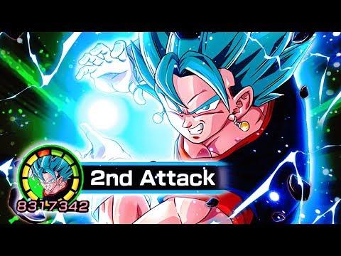 Super Saiyan Blue Vegito LIMITLESS ATTACK STACK! | DBZ Dokkan Battle