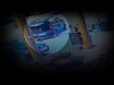 Hafif Ticari Araç ile Otomobilin Çarpışması Güvenlik Kamerasında