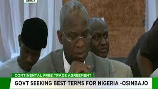 Continental Trade Agreement: Govt seeking best terms for Nigeria - Osinbajo