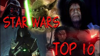 TOP 10 Most POWERFUL Force Users in Star Wars RANKED!!!