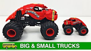 Learning Big & Small Monster Trucks for Kids - #1 Hot Wheels Monster Jam Monster Trucks for Toddlers