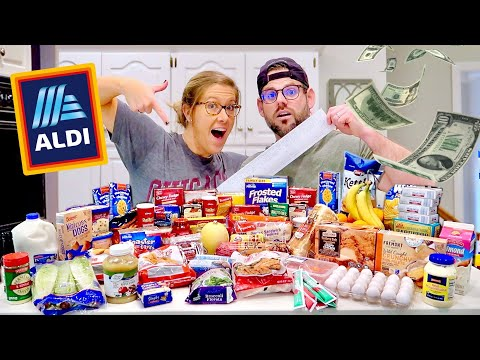 Shocking ALDI GROCERY HAUL! First Time BUDGET SHOPPING - Our Debt Disaster