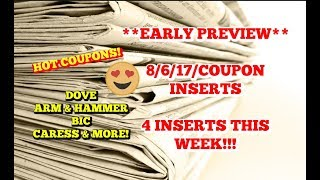 **EARLY PREVIEW** | 8/6/17 COUPON INSERTS | 4 INSERTS THIS WEEK!