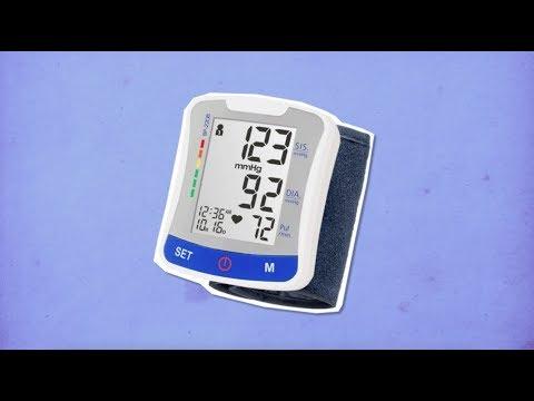 A pressão arterial é medida com um instrumento