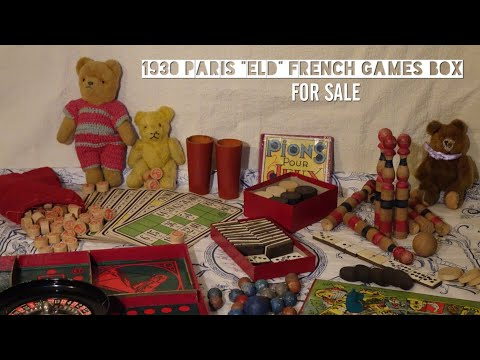 "1930 Paris ""ELD"" French Games Box (FOR SALE)"