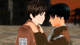 "MMD SNK ""Goodbye Kiss"" Eren X Levi Ereri Attack On Titan Funny AOT Meme Animation"