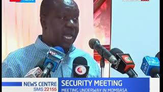 Cabinet Secretary Matiangi meets security committee at Mombasa