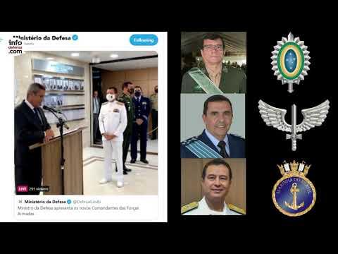 Brasil designa a los nuevos comandantes del Ejército, la Fuerza Aérea y la Marina