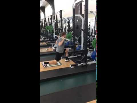 Barbell Alternating Split Jump