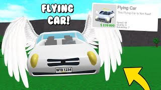 NEW Flying Cars In Bloxburg?! They NEED To Add This! (Roblox)