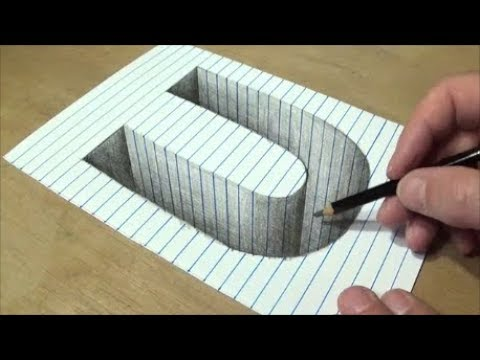 how to draw a hole in paper