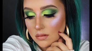 Glam Halloween Makeup | Green & Purple Halloween Makeup Tutorial