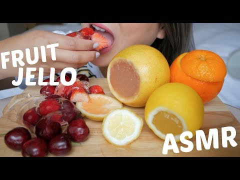 Fruit Jello ASMR (Funny Moment) *No Talking Sticky Soft Eating Sound | N.E Let's Eat