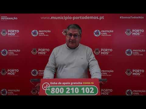 Comunicado Presidente da Câmara Municipal de Porto de Mós - COVID-19 - 22-03-2020