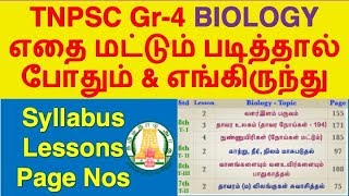 TNPSC Biology Syllabus, Topic Wise Study Plan | TNPSC Group-4/CCSE-IV 2019
