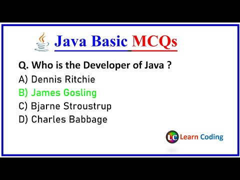 Part-1 Java Basic MCQs | Java MCQ's Questions and Answers (Hindi) | Learn Coding