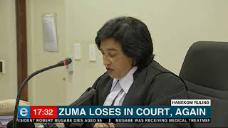 Yet another legal defeat for former president, Jacob Zuma