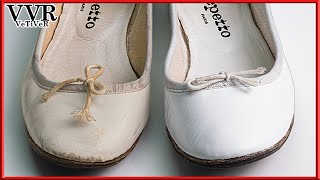 [ASMR] Clean & Restore Repetto Cendrillon  White Ballerina Flat Shoes