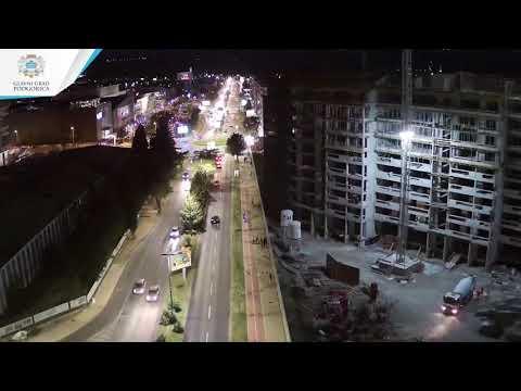 Nova rasvjeta na Cetinjskom putu i dijelu Bulevara 21. maj u Podgorici - Investicija vrijedna 60.000 EUR (VIDEO)
