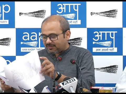AAP Leader Dilip Pandey Briefs Media on the Allocations of LandFill Sites in East Delhi