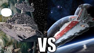 Imperial I-class Star Destroyer vs Venator-class Star Destroyer (Republic Cruiser)