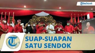 Viral Acara PDIP Bali ada Sesi Suap-suapan Tumpeng Pakai Satu Sendok, Wayan Koster Buka Suara