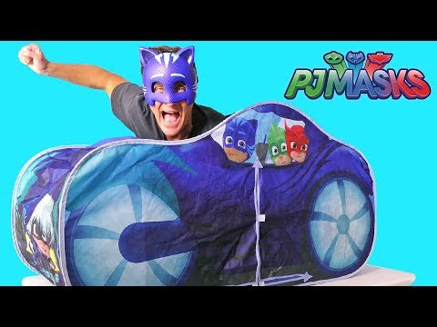 PJ Masks Cat Car Play Tent ! || Toy Review || Konas2002