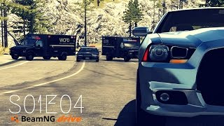 Beamng Drive Movie: Epic Police Chase (+Sound Effects) |PART 4| - S01E10