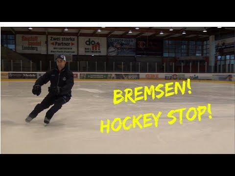 Schlittschuhlaufen Bremsen: Hockey Stop Tutorial