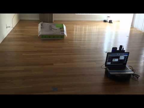 Autonomous Roomba mapping a room