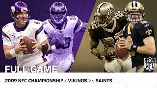 2009 NFC Championship Game: Minnesota Vikings vs. New Orleans Saints   NFL Full Game