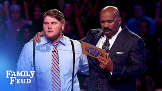 Jake needs 29 points with his final answer! | Family Feud
