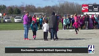 Rochester Youth Softball Opening Day 2018