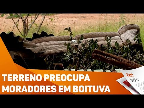 Terreno preocupa moradores em Boituva - TV SOROCABA/SBT
