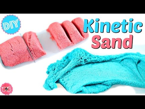 DIY KINETIC SAND! CRAZY SAND / SAND