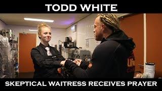 Praying & Blessing a Skeptical Waitress -Todd White