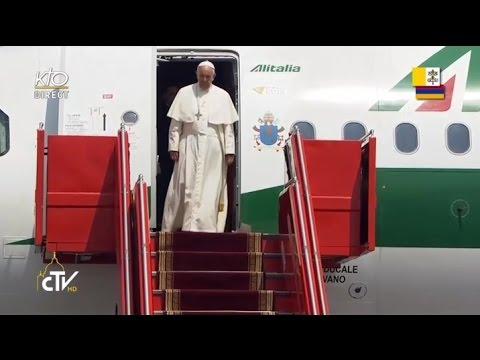 Arrivée du Pape François en Arménie