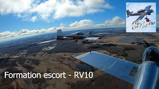 RV Aircraft Video - Formation Escort with a Van's RV-10