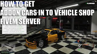 ADD your car into dealership In fivem Server ZAP HOSTING