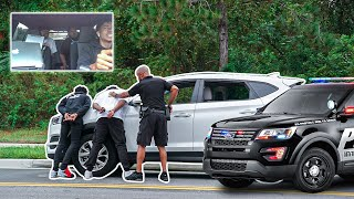 STOLEN COP CAR PRANK ON PRETTYBOYFREDO (GONE WRONG)
