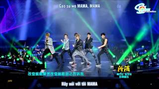 [Vietsub + Kara] [Perf] 121231 EXO-M - MAMA @ Jiangsu Countdown { S-Planet T.A.T }