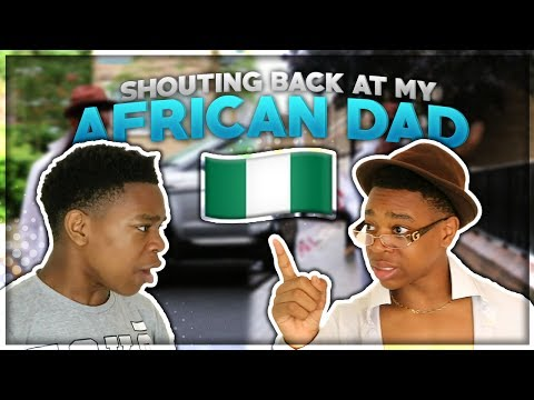 AFRICAN BOY SHOUTS BACK AT HIS DAD  **GONE VIOLENT**