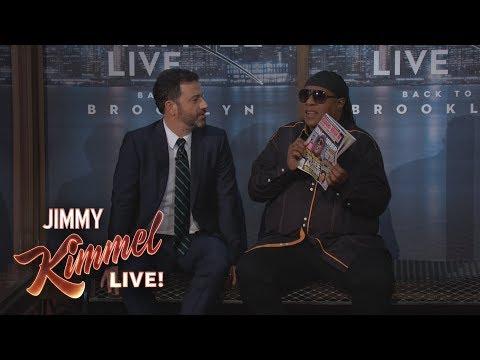Stevie Wonder Surprises Kimmel Audience