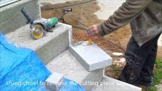 How To Cut A Concrete Bricks  Or A Concrete Block - The Easy Way - DIY