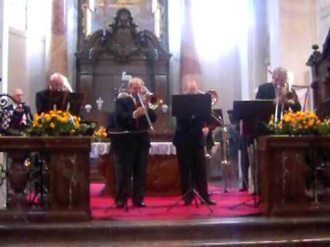 American Trombone Quartet performs Marini in Prague