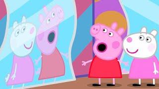 Peppa und Suzy besuchen ein Spiegelkabinett ❤️ Cartoons für Kinder   Peppa Wutz Neue Folgen