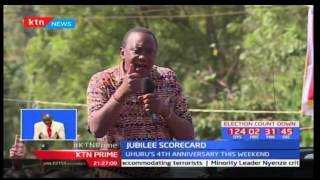 President Uhuru Kenyatta defends Jubilee's scorecard saying it has fulfilled it's promises