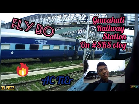 We ArE Now Guwahati Railway station in Waiting Train in 8,pm on #SKS Vlog